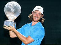 Fleetwood with the Nedbank Golf Challenge trophy