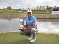 Garcia with KLM Open trophy