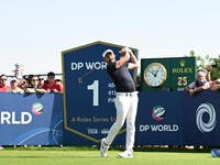 Lorenzo Vera in action at the DP World Tour Championship