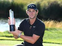 Thomas Pieters with the D+D Real Czech Masters trophy