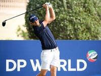 Wiesberger practises ahead of the DP World Tour Championship