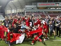 Bahrain's players celebrate their win
