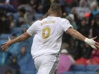 Karim Benzema scored twice in Real Madrid's 3-2 win over Levante as Eden Hazard made his long-awaited debut.