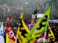 French unions have vowed to keep up the fight over the reforms, which are set to be finalised and published on December 11, with mass demonstrations in Paris and other cities, with teachers and other workers who once again have walked out alongside transport workers. Loic VENANCE / AFP