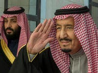 Saudi King Salman, and Crown Prince Mohammed bin Salman. (AFP/ File Photo)
