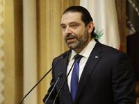 Lebanese Prime Minister Saad Hariri speaks during a press conference at his residence in Beirut. (AFP Photo/JOSEPH EID)