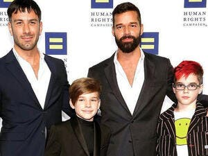 Martin had previously fathered twins Matteo and Valentino, both 11, via surrogacy in August of 2008.