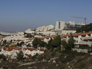 A picture taken on November 19, 2019 shows a general view of the Israeli settlement of Efrat near the Palestinian city of Bethlehem south of Jerusalem, in the occupied West Bank. (AFP/ File Photo)