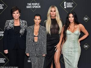 Kim Kardashian West and her sisters Khloe and Kourtney hit the red carpet at the People's Choice Awards