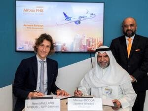 Jazeera Airways Signs Flight Hour Services Agreement With Airbus at Dubai Airshow 2019