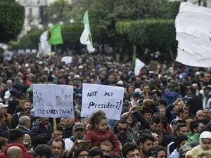 Algerian protesters take part in an anti-government demonstration in the capital Algiers on December 13, 2019 during the presidential election. (AFP/ File Photo)