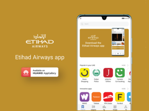 Etihad Airways App Launched in Huawei AppGallery