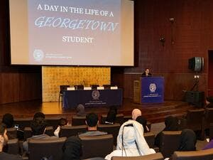 High School Students Experience a Day in the Life at Georgetown