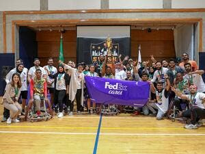 Fedex Cares Program Launched in Saudi Arabia Volunteers From Sab Express Engage With the Jeddah Special Needs Club Basketball Players
