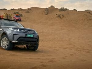 Three women from Oman and England walked 758km through the harsh terrain of Oman's Empty Quarter, backed by a pair of Land Rover Discovery support vehicles