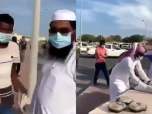 Video: Non-Muslim Workers Denied Meals During a Food Distribution Event in Qatar