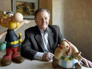 Albert Uderzo created the plucky Gaul Asterix with fellow Frenchman Rene Goscinny in 1959. (AFP Photo/STEPHANE DE SAKUTIN)