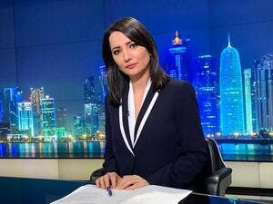 Ghada Oueiss, the Lebanese journalist and a principal anchor and presenter for Al Jazeera Arabic (Twitter)