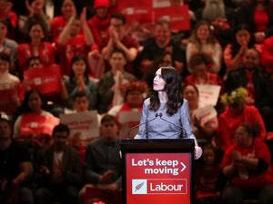 New Zealand's Prime Minister Jacinda Ardern attends the launch of the Labour Party's election campaign in Auckland on August 8, 2020, ahead of the country's general elections scheduled for September 19. MICHAEL BRADLEY / AFP