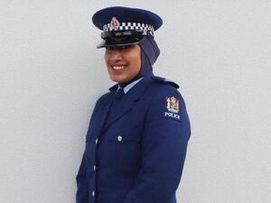 Constable Zeena Ali will become the first member of New Zealand Police to wear the hijab as part of her uniform. (New Zealand Police Instagram)