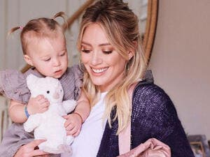 Hilary gave birth to her first child when she was 24