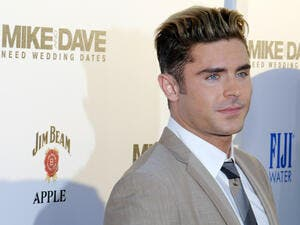 Zac Efron at the Los Angeles premiere of 'Mike And Dave Need Wedding Dates' held at the ArcLight Cinemas in Hollywood. (Shutterstock)
