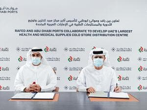 Rafed & Abu Dhabi Ports Work Together on UAE's Largest Health & Medical Supplies Cold Store Distribution Centre