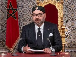 Morocco's King Mohammed VI delivers a speech marking the anniversary of his accession to the throne in Tetouan, July 29. (AFP)