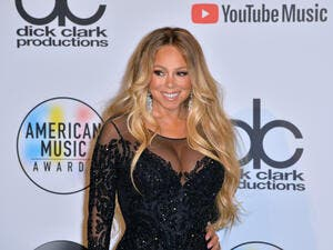 Mariah Carey at the 2018 American Music Awards at the Microsoft Theatre LA Live. (shutterstock)