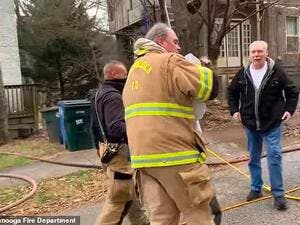 It was after that search that the dog was revived and reunited with their owner. (Chattanooga Fire Department)