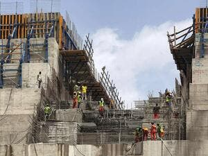 A general view of the construction works at the Grand Ethiopian Renaissance Dam (GERD), near Guba in Ethiopia. AFP