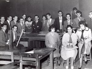 Iraq Photo Archive - Sadiya Ahmed's father with his geology classmates at the University of Baghdad, 1960s. (Instagram)