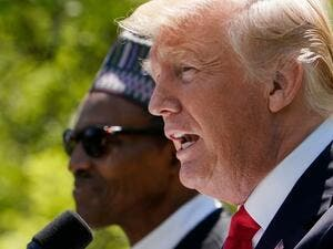 US President Donald Trump and Nigeria's President Muhammadu Buhar (AFP/File Photo)