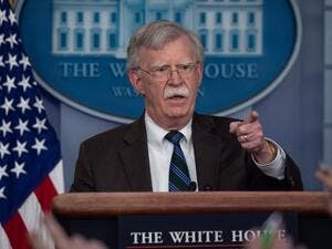US National Security Advisor John Bolton speaks at a press briefing at the White House in Washington, DC. (AFP/File)