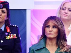US First Lady Melania Trump attends the 2019 International Women of Courage awards ceremony at the State Department in Washington, DC on March 7, 2019. (MANDEL NGAN / AFP)