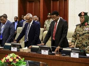 Members of Sudan's new cabinet newly-formed cabinet are sworn in at the presidential palace in the capital Khartoum on March 14, 2019. (AFP/ File Photo)