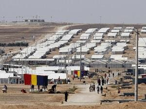 The International Labour Organisation (ILO) and UNHCR on Sunday opened the first centre for employment at the Azraq refugee camp (AFP)