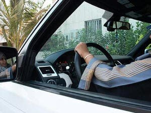 A Saudi woman behind the wheel (AFP/File Photo)