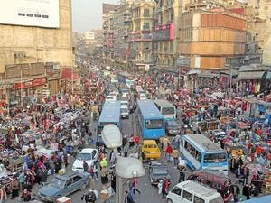 Crowded main street in Cairo (AFP/File Photo)