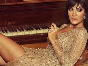 The price of Nadine Njeim's new year's photoshoot dress was revealed to be 12180 Dollars