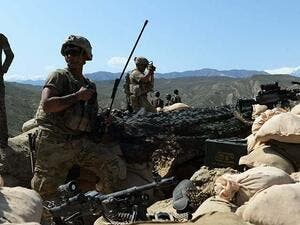 US soldiers take up positions during an ongoing an operation against IS militants in Afghanistan. -AFP