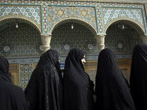 Iranian women look to Alinejad's My Stealthy Freedom to express themselves and protest compulsory hijab. (AFP/File)