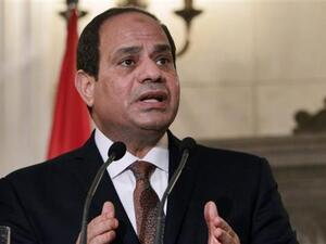 President El-Sisi has launched a crackdown on human rights (AFP)