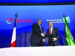 Amin H. Nasser, President and Chief Executive Officer of Saudi Aramco and Patrick Pouyanné, Chairman and CEO of Total.