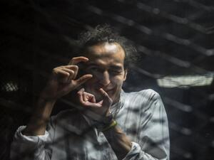 Egyptian photojournalist Mahmoud Abu Zeid, widely known as Shawkan (Twitter)