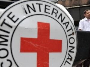The logo of the at the International Committee of the Red Cross (ICRC) in Florencia. (AFP/ File Photo)