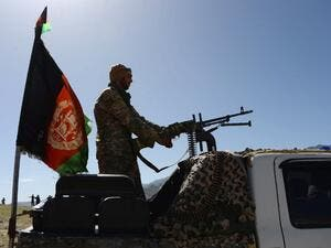 Afghan security force personnel take part in an ongoing operation against an Islamic State (IS) militant stronghold in Achin district of Nangarhar, eastern Afghanistan on April 14, 2017. (AFP/Noorullah Shirzada)