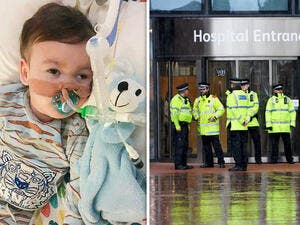 Alfie Evans hooked up to life support in hospital (AFP/File Photo)