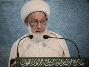 Sheik Isa Qassim is accused of being in contact with enemies of Bahrain. (AFP/Mohammed al-Shaikh)