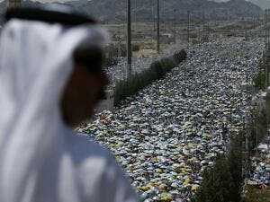 More than 1.8 million Muslim pilgrims are taking part in the Hajj this year in the Saudi holy city of Mecca. (AFP/Ahmad Gharabli)